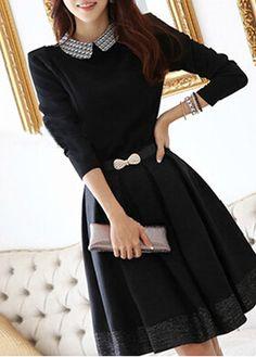 Collar A Line Dress