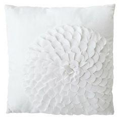 Xhilaration® Flower Decorative Pillow - White
