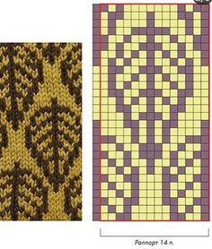 Жаккардовые узоры. Спицы. | Вяжем, Вяжем, Вяжем(Вязание) !!! | VK Tapestry Crochet Patterns, Fair Isle Knitting Patterns, Knitting Charts, Knitting Stitches, Knitting Designs, Knitting Yarn, Knitting Projects, Crochet Chart, Filet Crochet