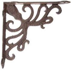 With a quirky octopus design, this nautical bracket is perfect for your reading nook, man cave, or living room! Octopus Cast Iron Bracket. You finally have the shelves built for your massive book collection, so how do you proceed?. | eBay!