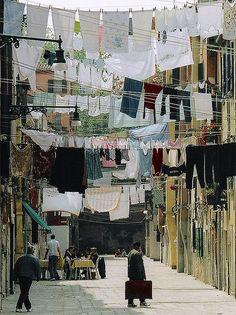 Lavando roupa na Itália … Veneza.