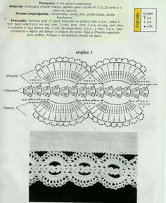Crochet lace edging ~~ shells and rounded scallops