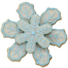 Snowflake Shine Cookies ❤ liked on Polyvore featuring christmas, food, food and drink and graphics