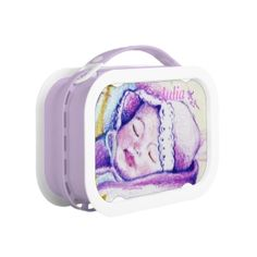 Sweet Dreams Baby Yubo Lunchbox by MoonDreams Music #yubo #lunchbox #baby #moondreamsmusic #meal #purple #lunch