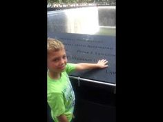 Parker Jax Ward paying his respects at 9/11 Memorial at World Trade Cent...
