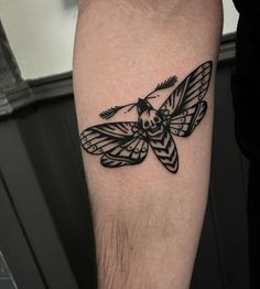 Death Moth Tattoo by Aaron Breeze at Life and Death Tattoos Shrewsbury UK.
