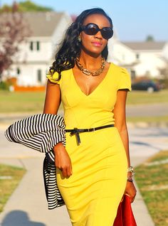 yellow dress...I absolutely love yellow and I have no idea why