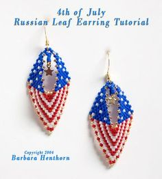 4th of July Earrings, Sova Enterprises