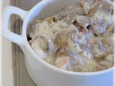 Recette Plat : Sauté de porc à la crème et aux champignons par Didine1512