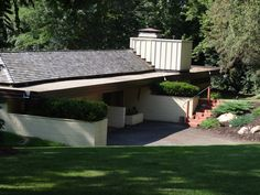 The Thomas E. Keys Residence is the second of three homes in Rochester, MN designed by noted architect Frank Lloyd Wright. Built in Rochester Minnesota, Minnesota Home, Outdoor Furniture Sets, Outdoor Decor, Lloyd Wright, Historical Sites, Keys, Scenery, Homes