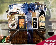 Cabernet and Cheese Picnic Gift Basket | Summertime Fun Gift ...
