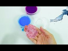 How to make jelly fluffy vaseline slime - DIY petroleum jelly slime, No Borax Borax solution : 1 glass of hot or warm water+ 1 teaspoonfull of Borax melted. Slime Without Shaving Cream, Fluffy Slime Without Glue, Diy Fluffy Slime, Making Fluffy Slime, Water Slime, Borax Slime, Slime No Glue, Diy Slime, How To Make Jelly