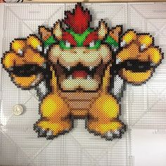 Bowser perler beads by thatsaki