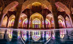Nasir-ol-Molk-Moschee in Schiras, Iran.