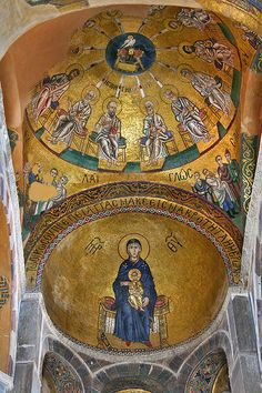 Hosios Loukas; Greece - Katholikon Virgin Enthroned
