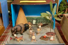 She Who Delights: shoebox dioramas