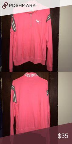 Vs pink half zip pull over! Pink half zip pull over ! PINK Victoria's Secret Tops Sweatshirts & Hoodies