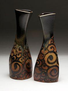Daphne Hatcher Vase Spiral Tattoo.jpg by clayglazepots, via Flickr