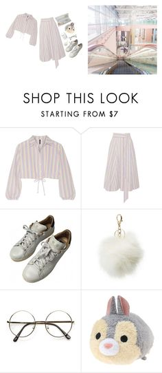 """✈️ goodbye"" by nichijou ❤ liked on Polyvore featuring Lisa Marie Fernandez, Muji, adidas, Charlotte Russe and ZeroUV"