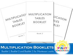 The Pinay Homeschooler: FREE Multiplication Booklets Math Subtraction, Math Fractions, Maths, Multiplication Tables, Teaching Math, Teaching Multiplication, Teaching Time, Teaching Ideas, Montessori Homeschool