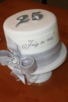 like this..25 for my parents, 30 for his...mini cakes at the wedding?