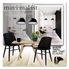 """""""MINIMALIST DINING ROOM"""" by nanawidia ❤ liked on Polyvore featuring interior, interiors, interior design, home, home decor, interior decorating, Menu, iittala and dining room"""