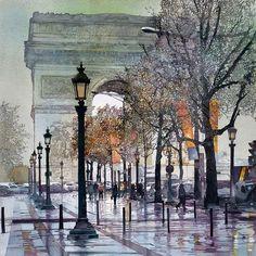 Watercolor, Paris - John T. Salminen