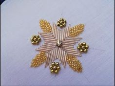 hand embroidery:beautiful designe with beads.