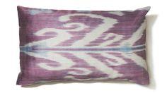 Lilac & Sky Blue Rectangular Ikat Pillow Cover