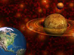 Earth and Saturn 3D Art Wallpaper
