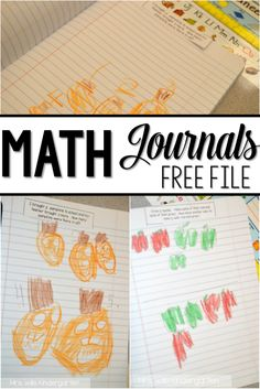 Math Journals We love math journals. Here is a glimpse of how I handle math journals in my kindergarten classroom.We love math journals. Here is a glimpse of how I handle math journals in my kindergarten classroom. Preschool Math, Math Classroom, Kindergarten Activities, Fun Math, Classroom Ideas, Numeracy Activities, Disney Classroom, Kindergarten Freebies, Number Activities