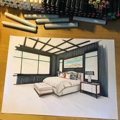 House sketch marker interior design for 2019 Sketchbook Architecture, Model Architecture, Architecture Design Concept, Interior Architecture Drawing, Interior Design Renderings, Drawing Interior, Interior Rendering, Interior Sketch, Architecture Portfolio