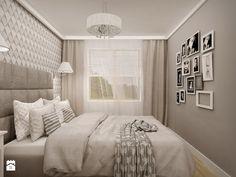 MIESZKANIE W ŁOMIANKACH - Mała sypialnia małżeńska, styl nowoczesny - zdjęcie od MKdesigner