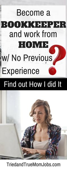 Do you want to find a job that offers the flexibility to work from home, set your own hours, and spend time with your family? See how to get started with no previous experience. Work From Home Tips, Make Money From Home, Way To Make Money, Bookkeeping And Accounting, Bookkeeping Business, Accounting Jobs, Online Jobs From Home, Home Jobs, Online Work