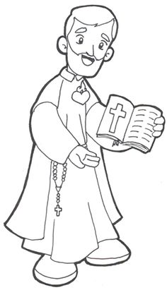 Saint Philip Neri Catholic coloring page.  Feast day is May 26th.