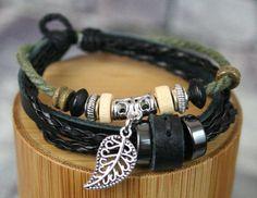 Earthy Bracelet Women's Men's Handmade Adjustable by PhilsGiftShop