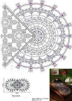 Angels Cradle: Crochet table runner