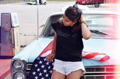 USA outfit women jeans black madame tee tshirt from backstage backstg.com
