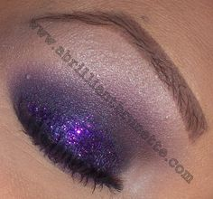 Smokey, Sparkling Purple Eyes feat. Glamour Doll Eyeshadows ~ A Brilliant Brunette