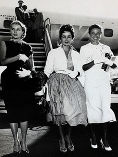 Grace Kelly, Elizabeth Taylor and Laraine Day - L.A. 1950