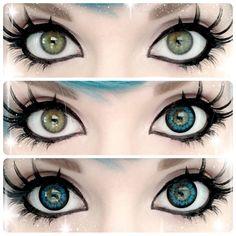 GEO Sparkling Blue circle lens colored contacts cosmetic color circle lenses from EyeCandy's. Gyaru Makeup, Kawaii Makeup, Cosplay Makeup, Costume Makeup, Pretty Eyes, Beautiful Eyes, Make Up Gesicht, Colored Contacts, Eye Contacts