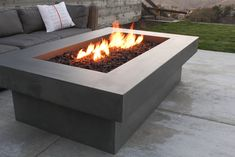 No backyard is truly complete without a fire feature. Warm up with one of our handcrafted concrete fire pits and start to enjoy your yard. With its clean and simple composition, our Olson fire pit can fit seamlessly into any landscape design Fire Pit Table, Diy Fire Pit, Fire Pit Backyard, Large Backyard, Small Patio, Gazebo, Pergola Roof, Outdoor Fire, Outdoor Decor