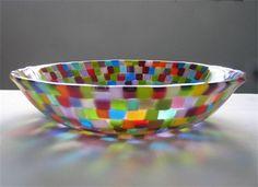 Kurumi Conley - stunning fused glass bowl