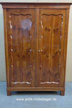 Antiker Kirschholz Biedermeier Kleiderschrank, Antique, Restored, Bedroom Furniture, Wardrobe