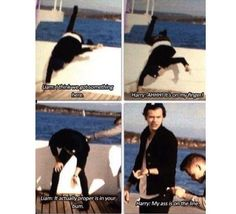 harry telling a good joke for the first and only time