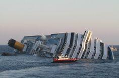 """Italy cruise ship """"Costa Concordia"""" aground near Giglio"""