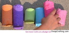 Homemade Sidewalk Chalk - DIY Project from cheapcrafting.com
