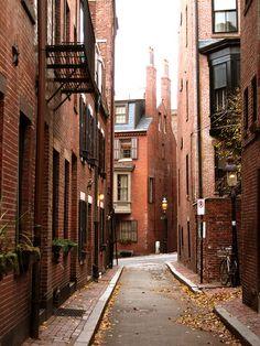 Beacon Hill, Boston, Massachusetts- this looks kinda like the building in RENT