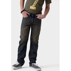 Signature By Levi Strauss ; Co.; Boys' Straight Fit Jeans, Size: 8