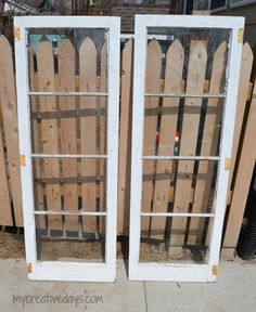 Upcycled window cabinet #DIY #paintedfurniture #upcycle - www.countrychicpaint.com/blog